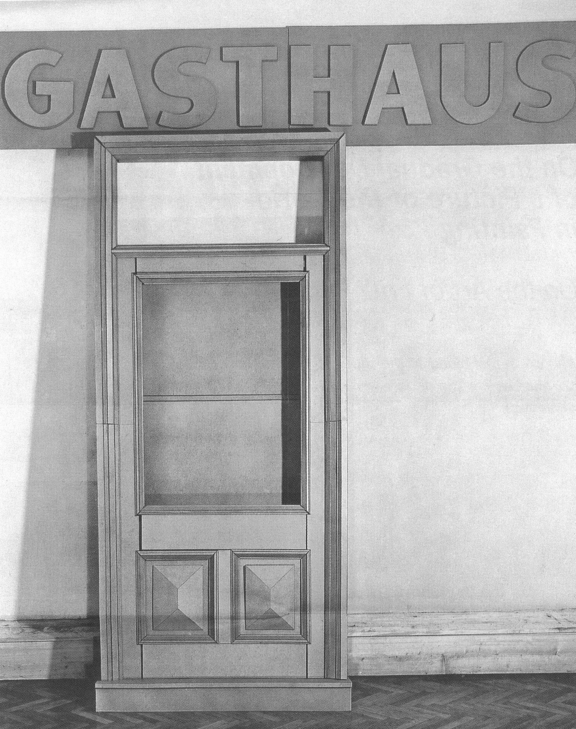 Gasthaus, Fritz Panzer, Kartonskulptur, 1972, Foto: Cora Pongracz